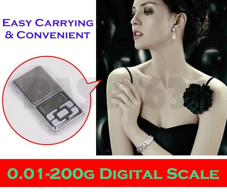 0.01g- 200g Digital Portable Pocket Jewelry Weighing Scale
