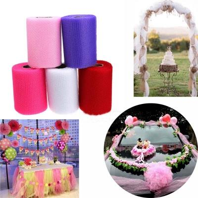 0.14*24m Unit Colorful Wedding Party Decoration Tulle Roll DIY Fabric