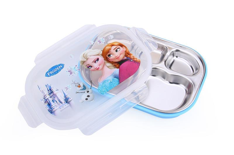 00064 5 PARTITION 304 STAINLESS STEEL CHILDREN LUNCH BOX