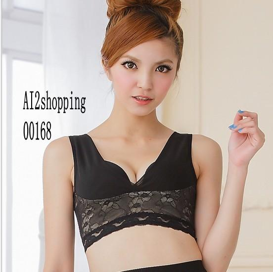 00168Japan gather/body sculpting underwear lace vest
