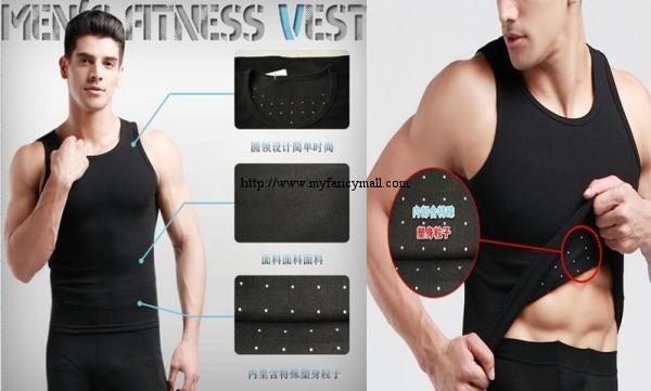 00227 Japan Germanium titanium silver Shaping MEN MAN Slimming Vest