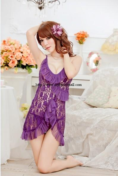 00423 Sexy Sleep Lingerie Underwear Pyjamas Nightwear Skirt+T
