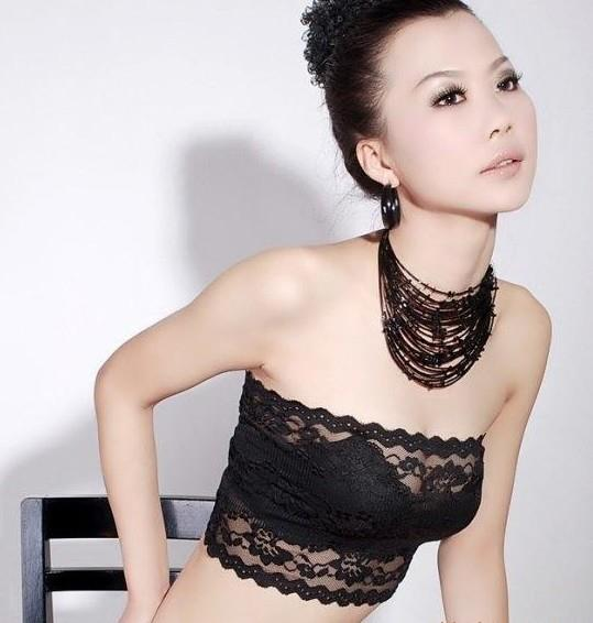 00464 Korean  beautiful lace sexy Tee Tube