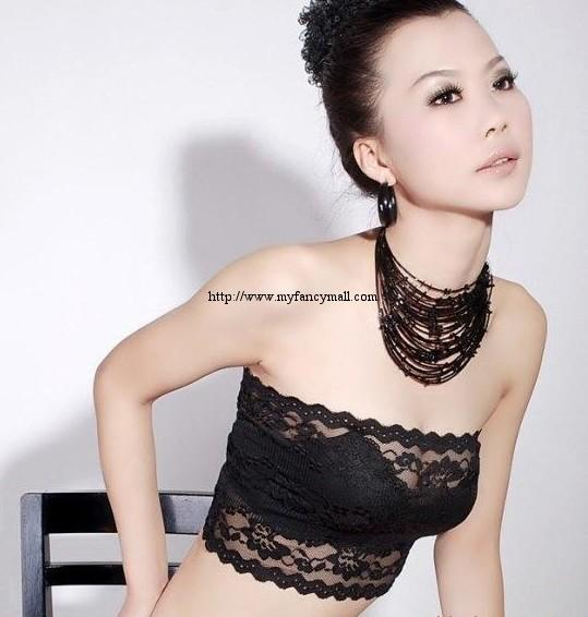 00464 Korean Lace Singlet Vest Blouses T-Shirts Bra Top