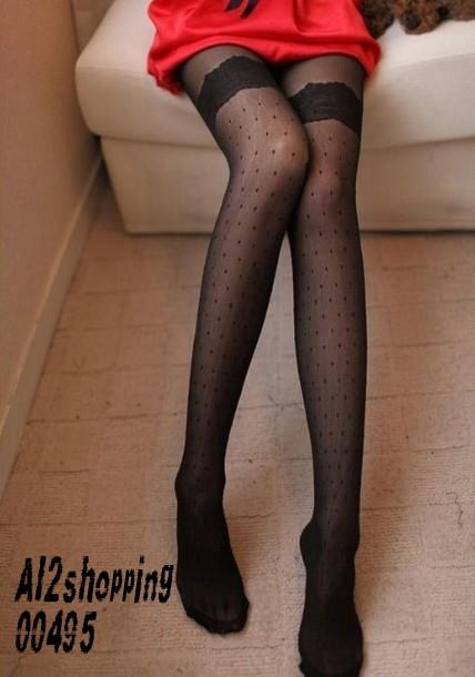 00495Central lace embroidery little ladies sexy pantyhose