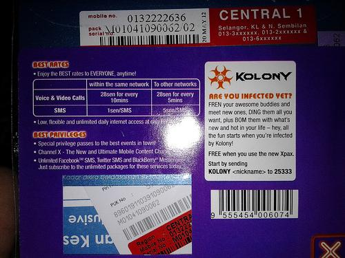 013 2222 636 - CELCOM XPAX PREPAID SIM PACK CARD NEW VIP NUMBER
