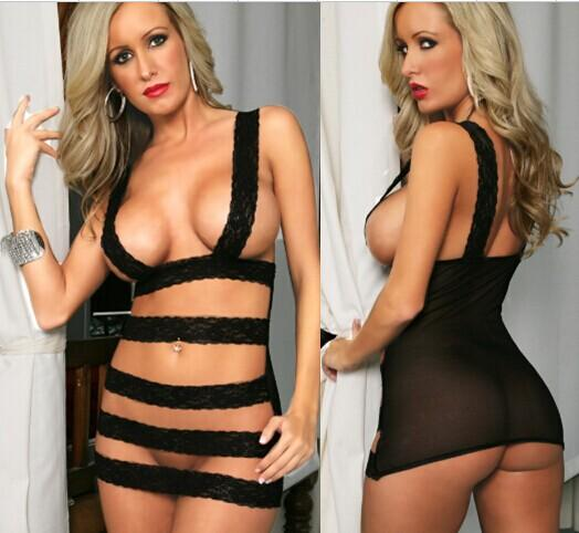 02059 Sexy Sleep Lingerie Underwear Pyjamas Nightwear Skirt+T