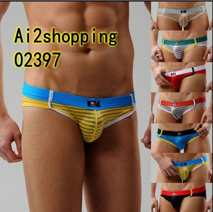 02397Sexy G-string Men Underwear Boxer underwear cotton Briefs