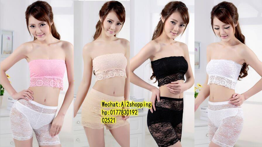 02521Exquisite lace stitching Bra  Tube Top