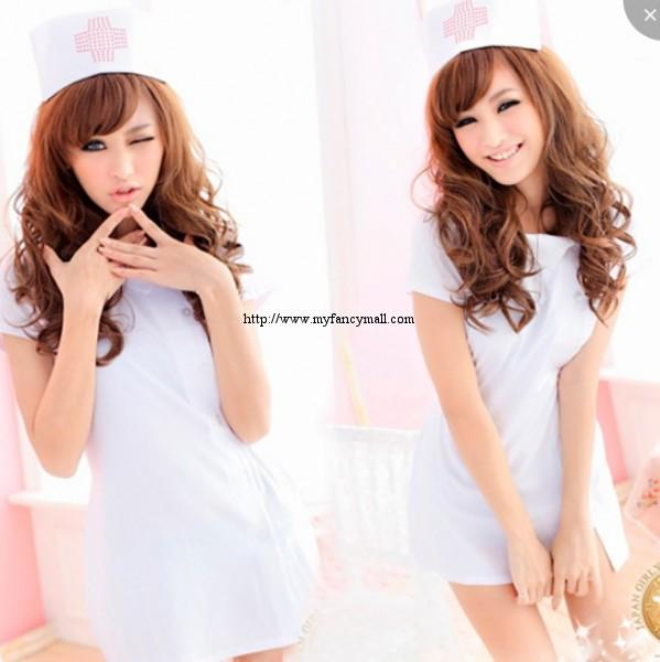 03228 Role play fun playful Japan sexy nurse three-piece suit