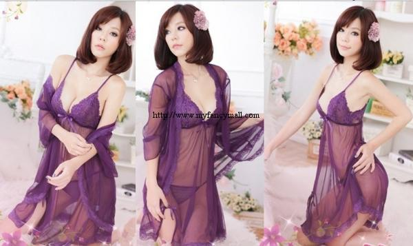 04043 taiwan  Sleep Lingerie Pyjamas Nightwear Skirt three-piece