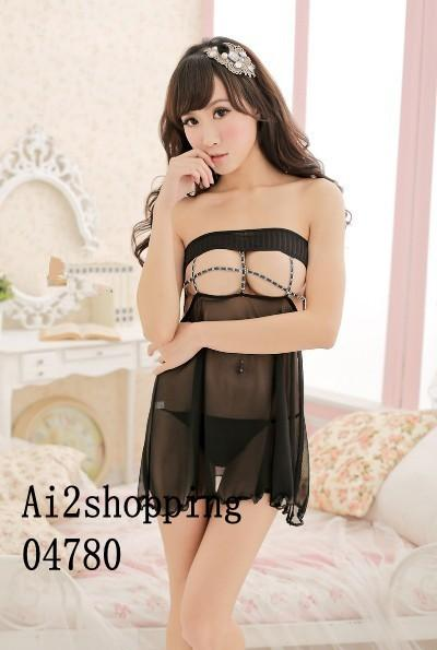 04780Sexy chest hollow Sexy Lingerie+G-string