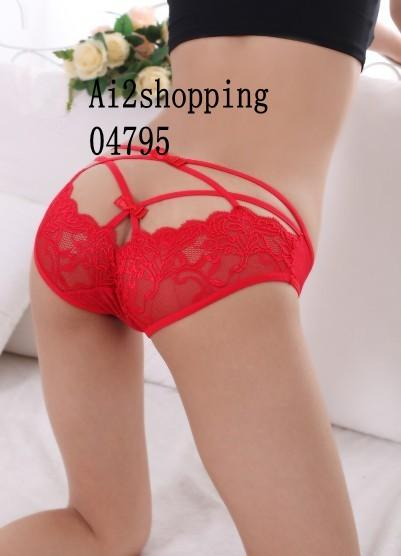 04795 Lace lace back bow the Silk Cotton sexy underwear
