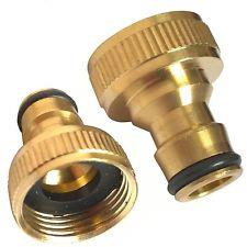 "1/2"" to 3/4"" Brass Hose Adaptor"