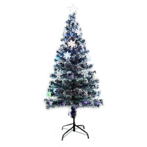 1.2Meter 5 Colour Fibre Optic Light Decor with Snowflake