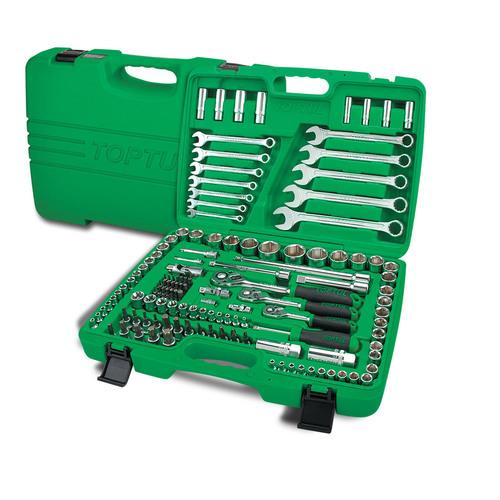 1/4', 3/8' & 1/2' DR. 6PT Flank Socket Wrench Set TOPTUL GCAI130B
