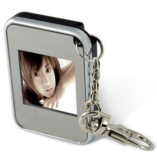 NEW 1.5' LCD Rechargeable Digital USB Photo Frame Keychain'