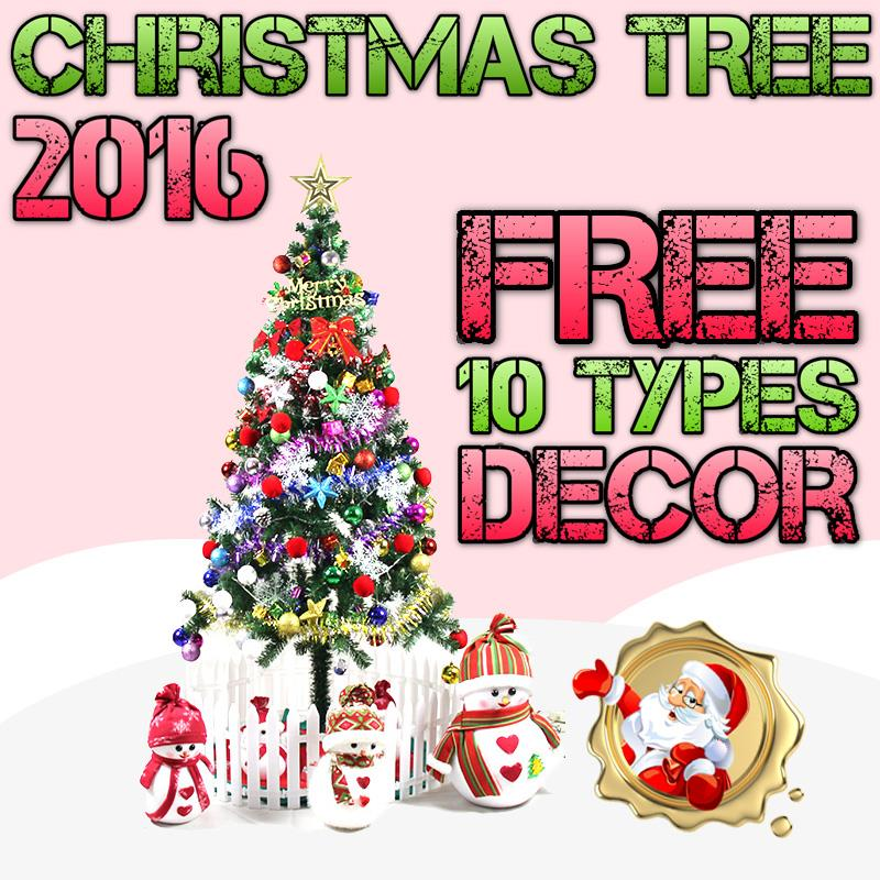 1.5m Full Size Christmas Xmas Tree - FREE 10 TYPES DECOR & LIGHTING