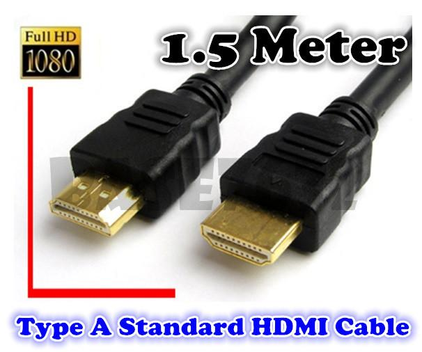1.5M Gold Plated  V1.4 Type A Standard HDMI  Cable  V1.4 Full HD 1080