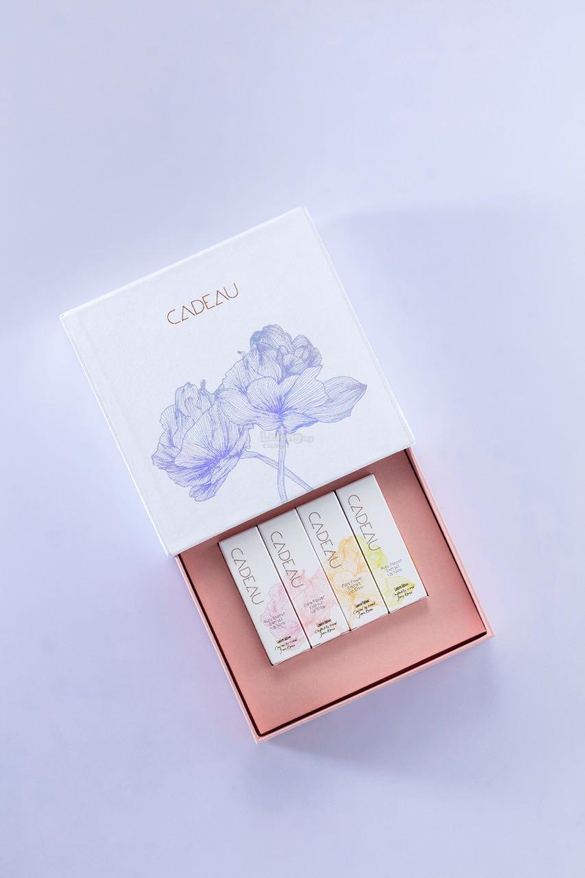 1 Box Set of CADEAU Flower Jelly Lipstick (4 pieces in a box set)