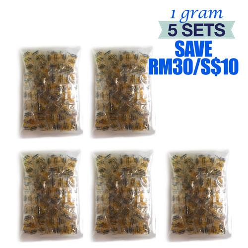 1 Gram x 500 Packets Food & A-Grade Silica Gel Desiccant Dehumidifier