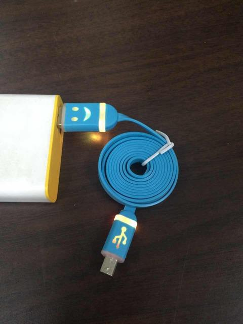 1 METER 1M MICRO USB CABLE LED COLOUR SAMSUNG OPPO  #1043