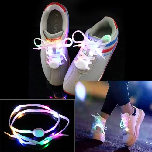 1 Pair 1.1m Batteries Powered LED Shoelace Lamp/deco Light Strip