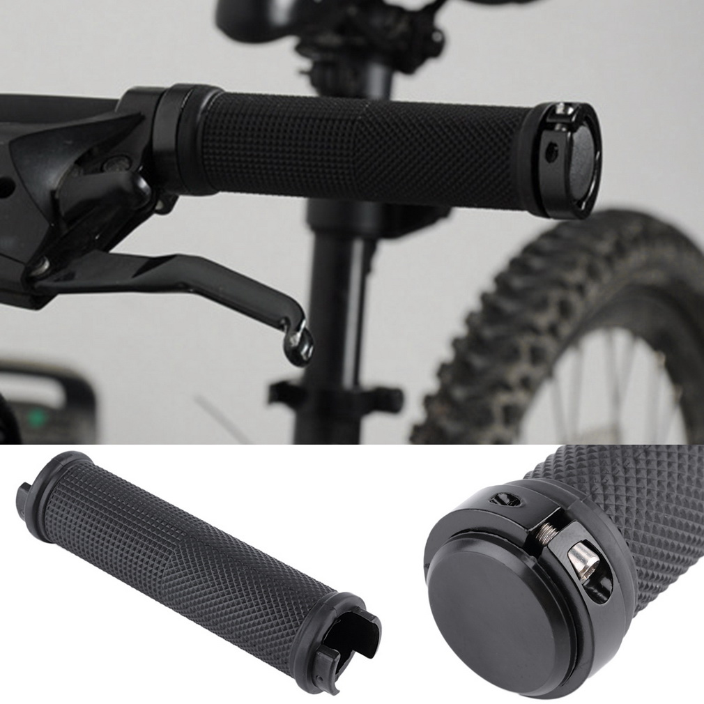 1 Pair Bike Cycling Bicycle Tube Type Anti-slip Rubber Handlebar Grips