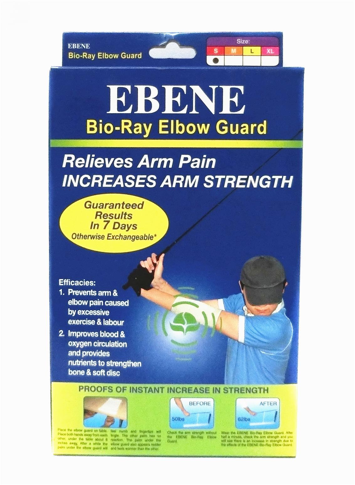 1 pair Ebene Bio-Ray Elbow Guard - Size S