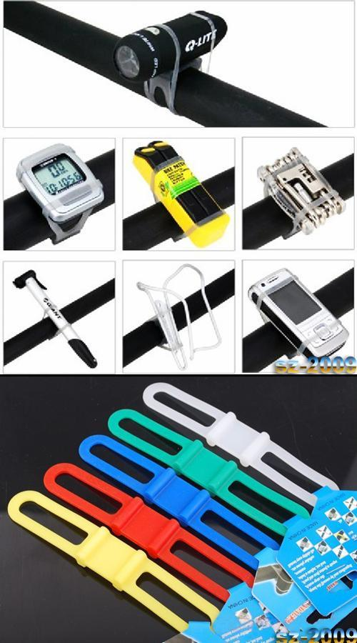 1 pc New Bicycle Silicone Strap Bandages Holder