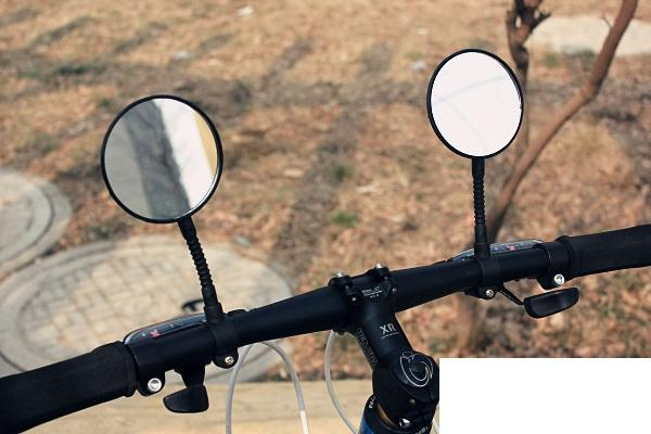 1 pcs Bicycle Rear View Mirror Handlebar 360 degree Flexible wit Mount