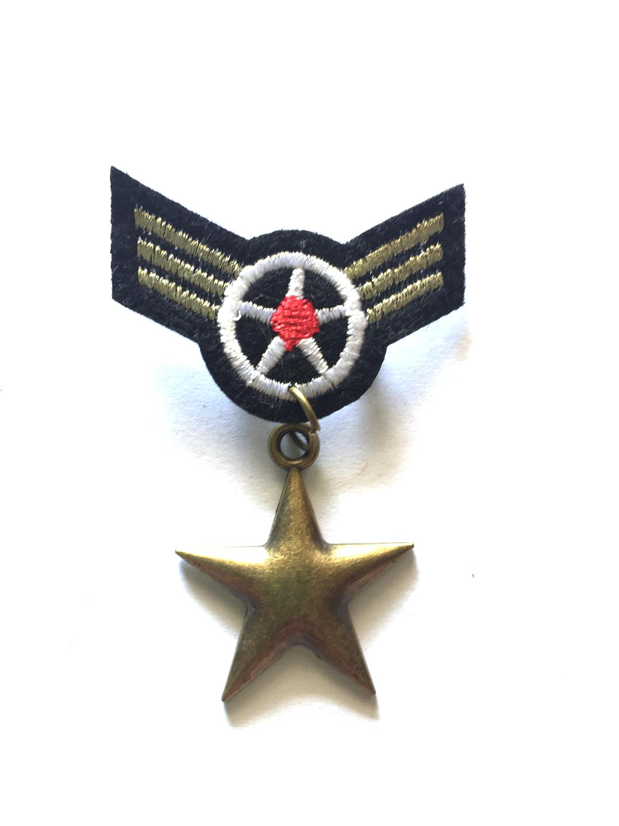 1 pcs cosplay  ribbon medal badge brooch pin, bronze star pendant