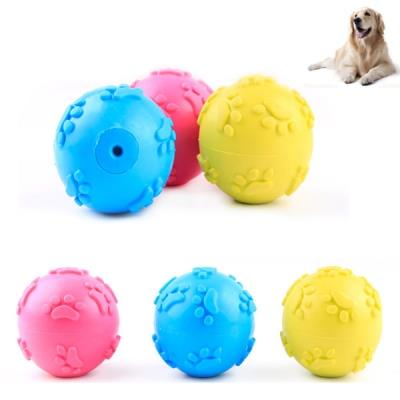1 Pcs Paw Pattern Pet Puppy Dog Chew Toy Rubber Squeaker Traction Toys