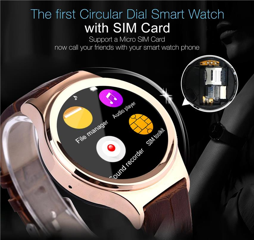 NO.1 S3 Smart watch phone 1.22' Touchscreen MT2502 128MB ROM