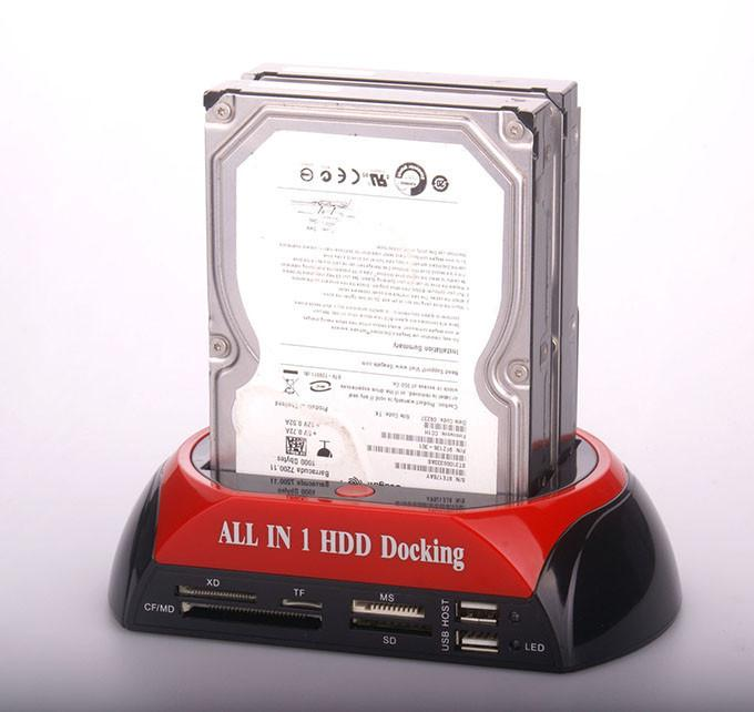 All in 1 Sata Hard Disk HDD Enclosure Docking Station 876C + eSata