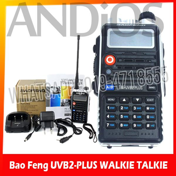 1-Set Baofeng UVB2 PLUS VHF/UHF Dual Band Programmable Walkie Talkie
