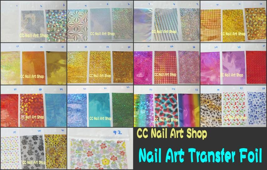 1 sheet Transfer foil nail art NEW fashion