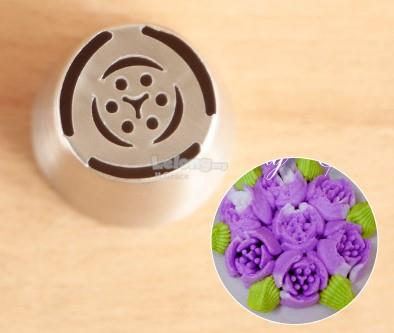 No. 1 Tulip Russian Nozzle One Step Flower Icing Tiping