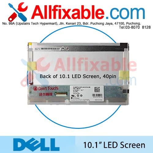 "10.1"" LED LCD (40 pin) Screen For Dell Mini 10 1012 1018"