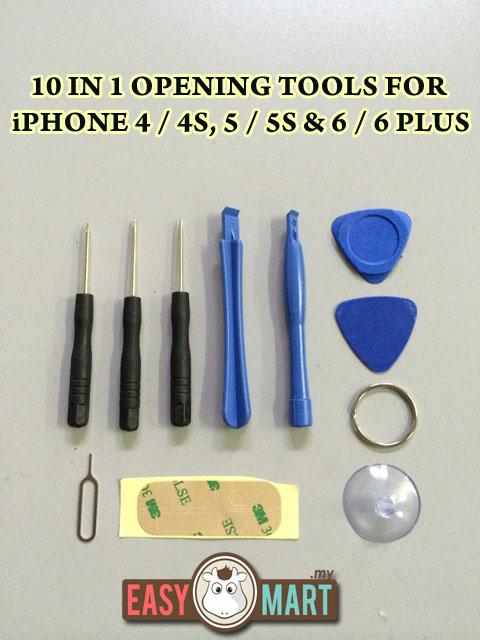 10 in 1 Mini Apple Iphone 6 6+ 5 5S 4 4S Opening Repair Tools Kit
