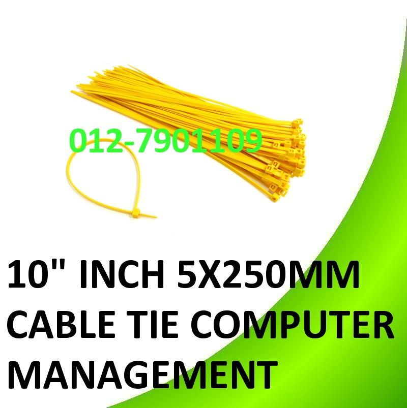 10� inch 5x250mm Cable Tie Computer Wire Cabling Tidy Management 100pc