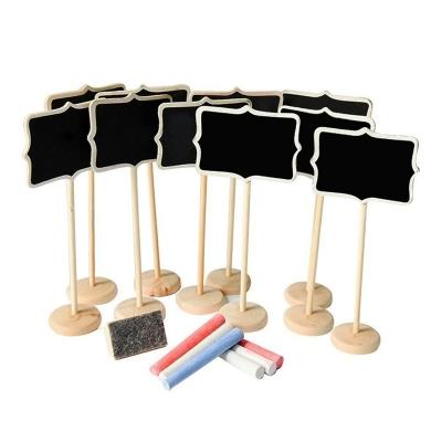10 Pieces 3.2 x 2.5 inch Chalkboard, 6 Pieces Colored Chalk and Eraser