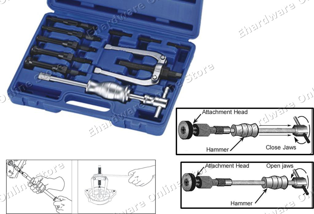 Bearing Puller Set Malaysia : Pieces internal blind bearing puller with slide end