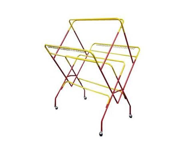 10 Rods Clothes Drying Rack with Movable Wheels