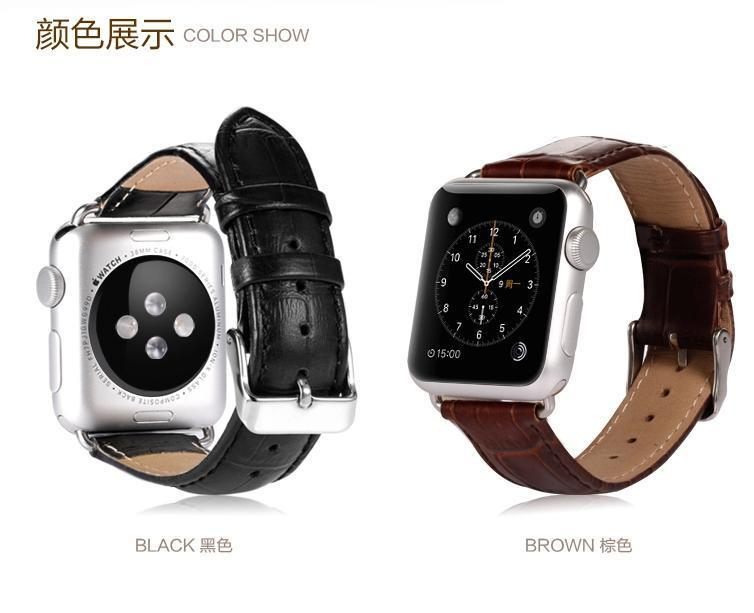 100% Benks Apple Watch 42mm 38mm Cow Leather Buckle Watchband Strap
