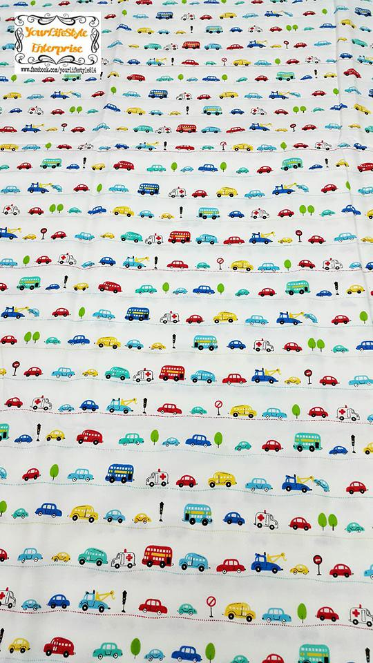 100% Cotton 4 Design Car B Bedding Textile DIY