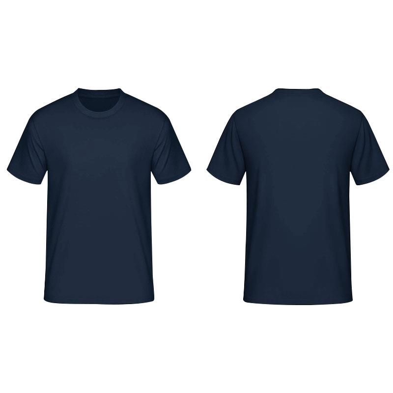 Navy Blue Shirt Front And Back