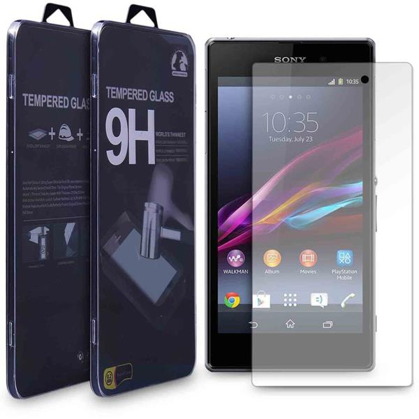 100% Genuine Tempered Glass Screen Guard For Sony Xperia Z Transparent