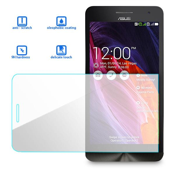 100% Genuine Tempered Glass Screen Protector Guard For Asus Zenfone 6