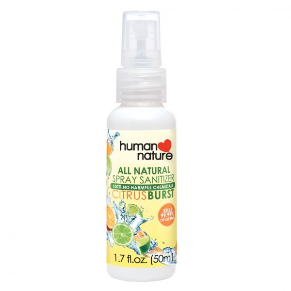 100% Natural Sanitizer Spray 50ml (Citrus Burst) - by human nature